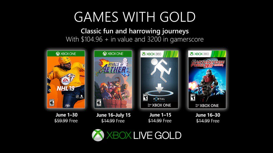 New Games with Gold for June 2019