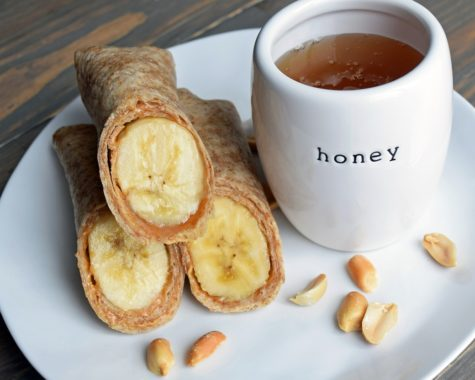Roll-Ups With Peanut Butter, Honey and Banana
