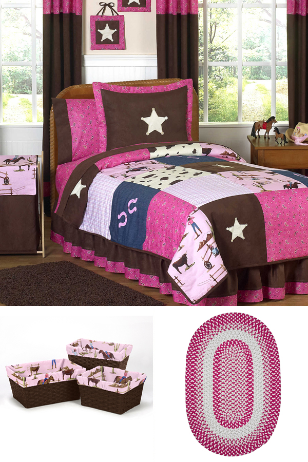 Little Cowgirl Theme Kids Bedroom