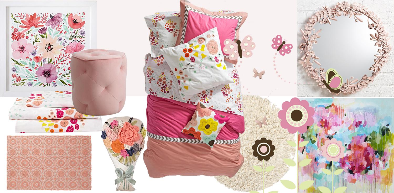 Kids Butterfly Garden Bedroom | How to Design a Kid's Butterfly Garden Bedroom