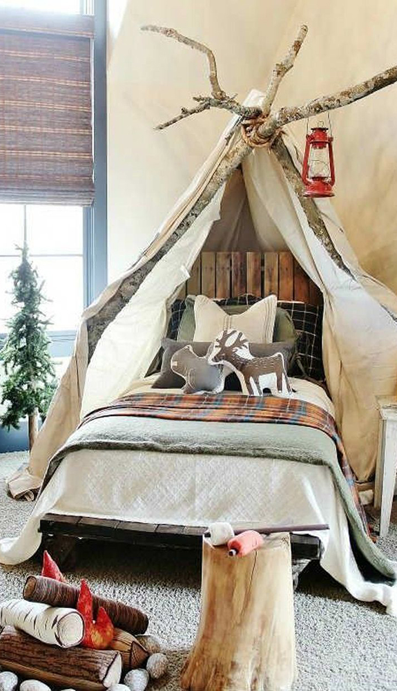 Children's Woodland Bed Room| How to Design a Kids Theme Room | Kids Theme Room Ideas