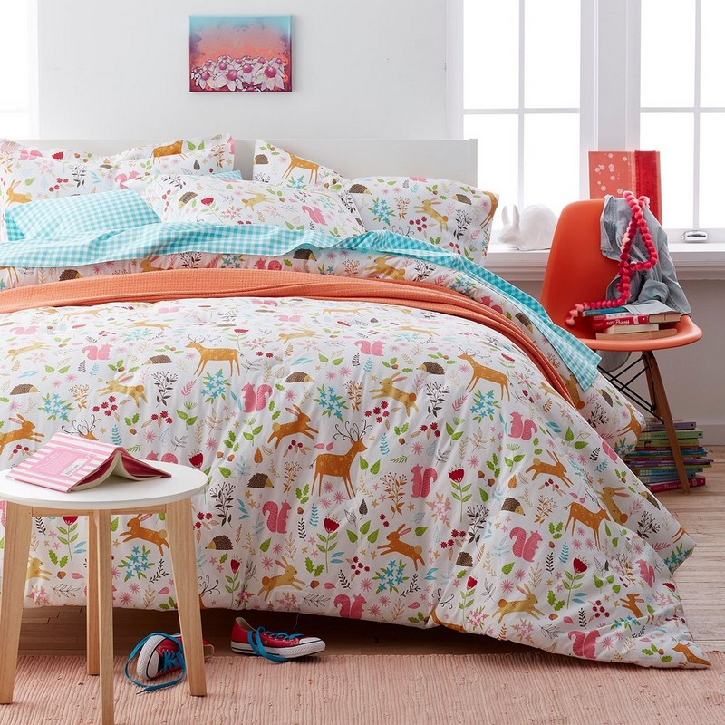 Girls Woodland Duvet Cover