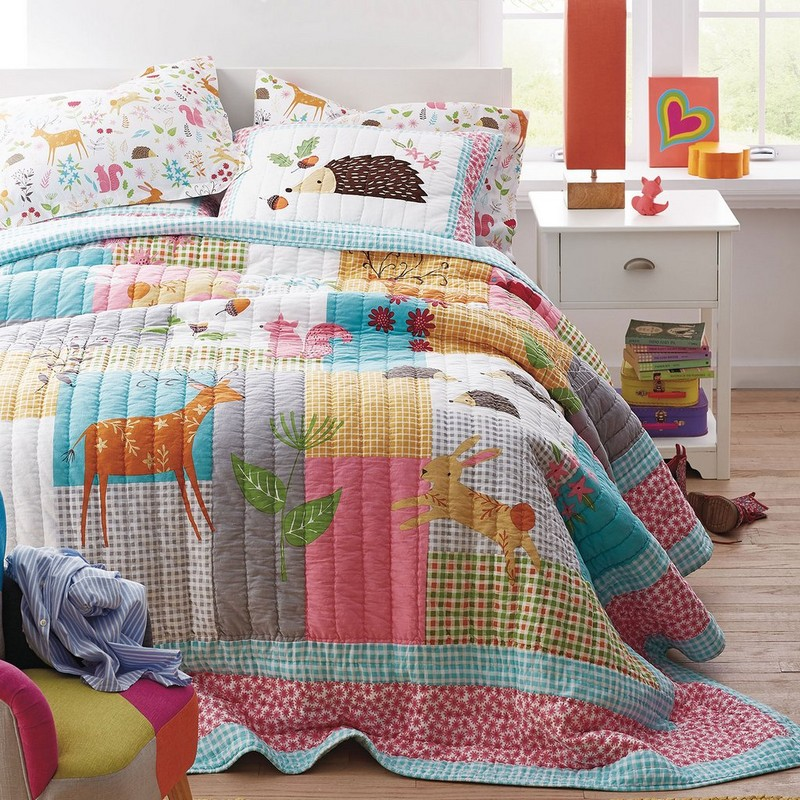 Girls Woodland Bedding