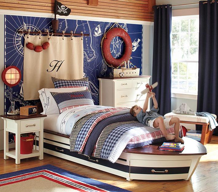 Kid's Nautical Pirate Bedroom