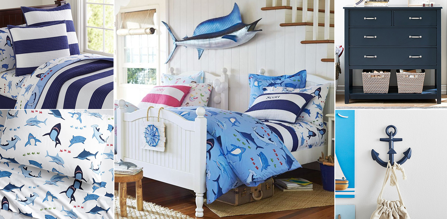 Kids Shark Bedroom Ideas & Kids Shark Bedding