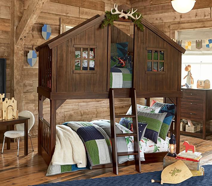 Kid's Woodland Theme Bedroom