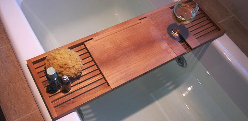 Wood Bathtub Tray