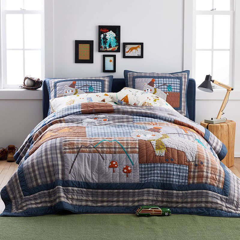 Kids Woodland Camping Quilt