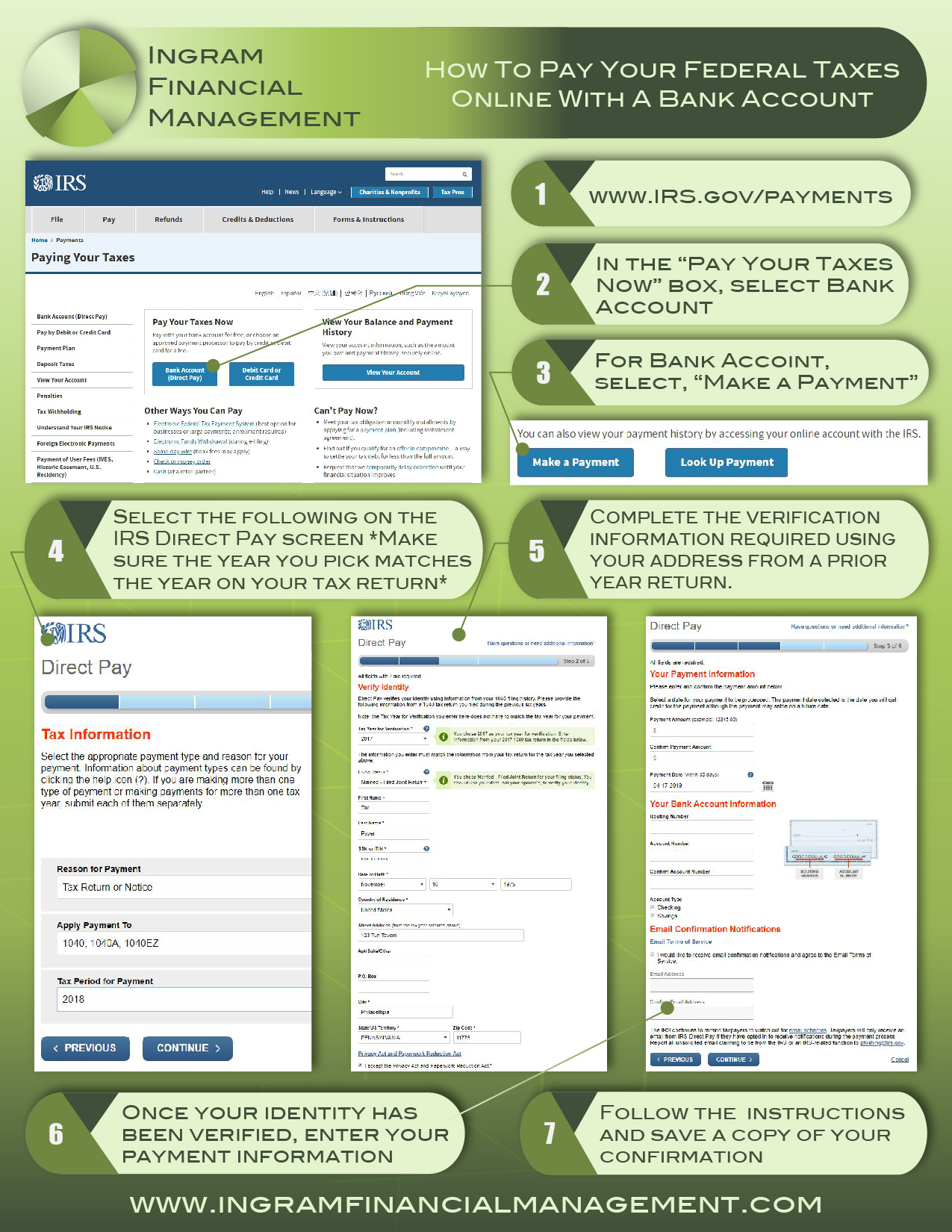 Ingram Financial Management Online Bank Payment