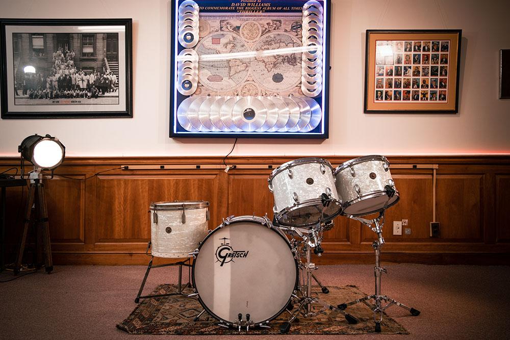 The Library Studio Gretsch Drum Kit