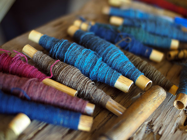 bobbins of yarn