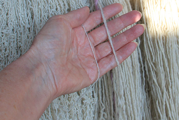 two weights of yarn