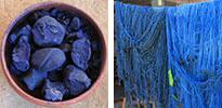 dried indigo and indigo-dyed yarn