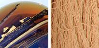 wood dye and yarn