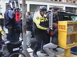 Image of Portland Police civil rights violation.