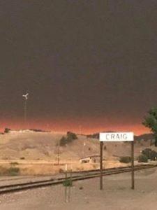 Montana fires darken the afternoon sky in Craig.