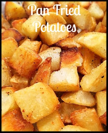 Pan fried Papas