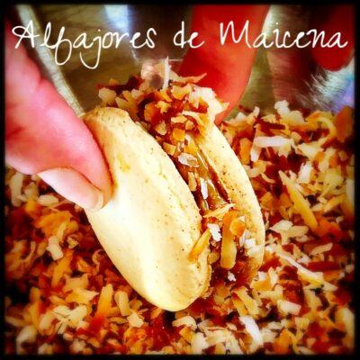 Alfajores de Maicena, Dulce de Leche, Coconut