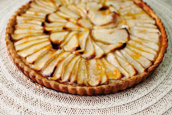 Apple, Pate Brisee, Apricot Glaze