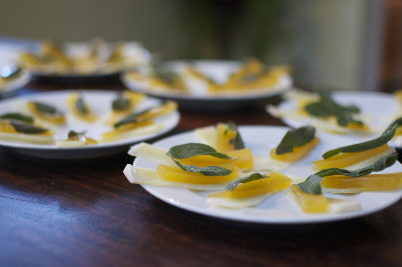 Pecorino, Dulce de Batata, Fried Sage