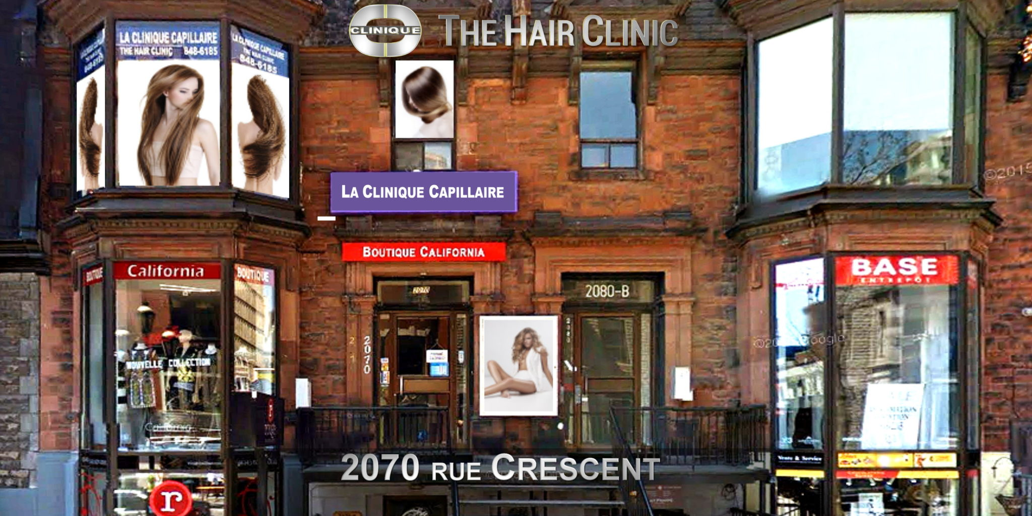 Contact The Hair Clinic Montreal 2070 Crescent at 514-848-6185