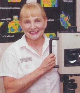Sylvia Philpy and Infrared Thermal Camera used for medical thermography