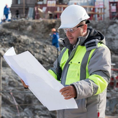 Engineer looking at the plan