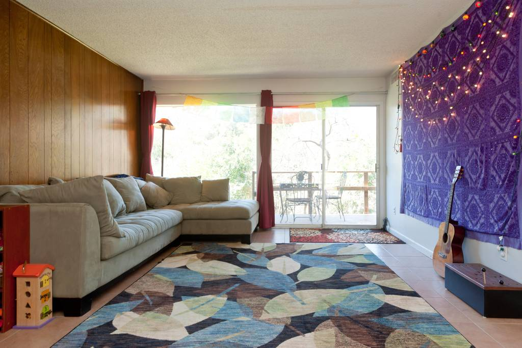 Comfortable colorful Airbnb