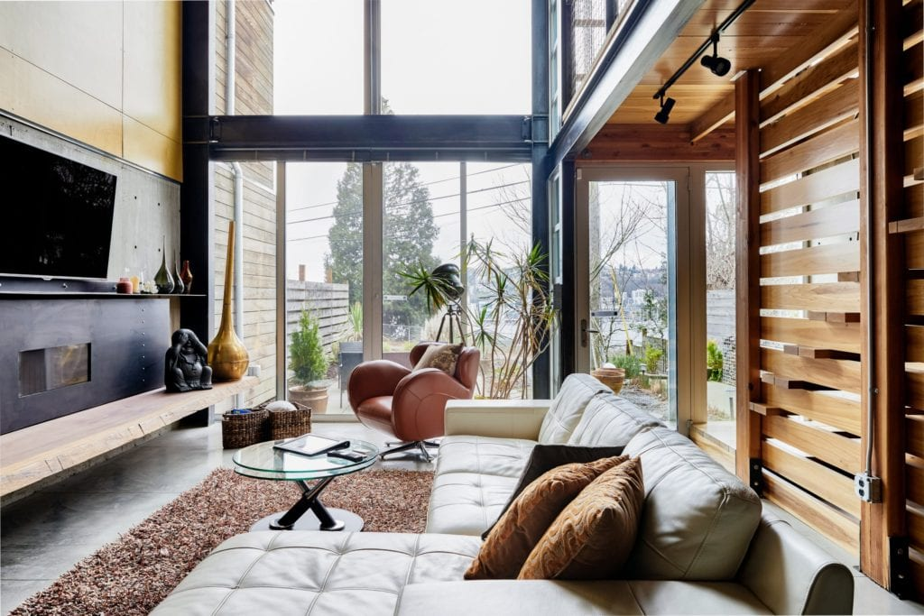 modern townhome seattle airbnb