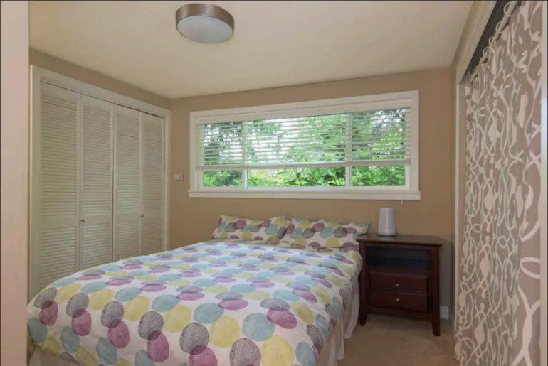 City University of Seattle Cozy bedroom with garden level views