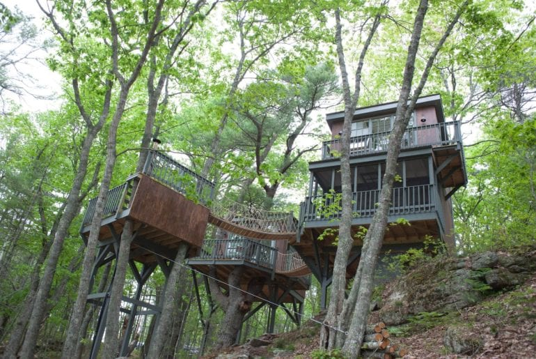 maine airbnb tree house