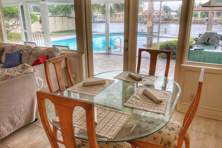 south tampa beachfront airbnb pool home