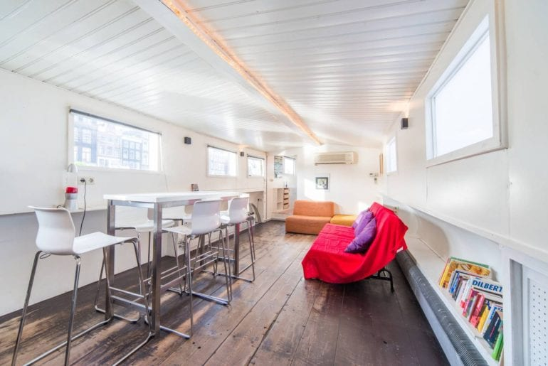 modern houseboat in city center airbnb amsterdam