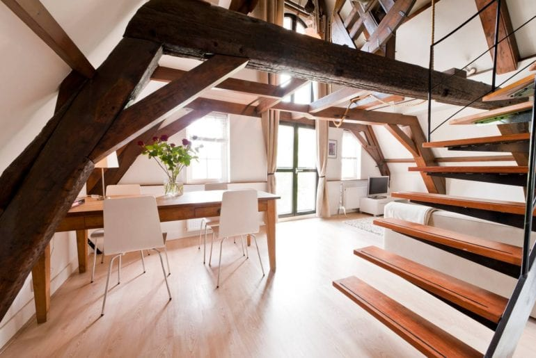 central airbnb amsterdam loft on canal