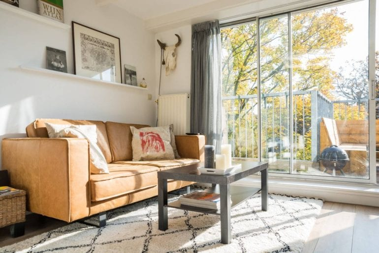 trendy and sunny airbnb apartment amsterdam