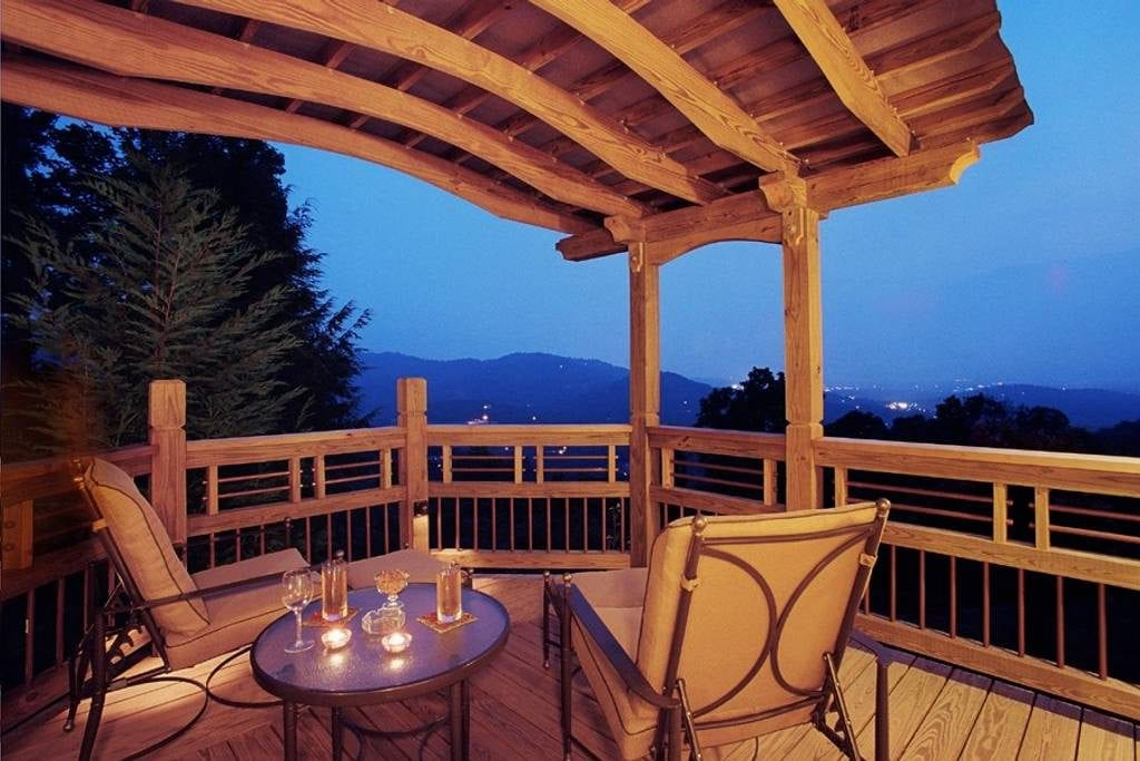Vista view from this romantic deck