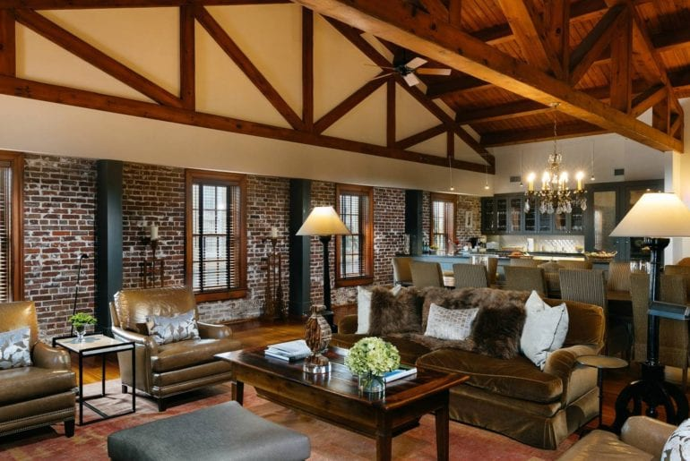 The distinguished design of this historic loft will make you feel at home in one of the best Airbnb Charleston properties