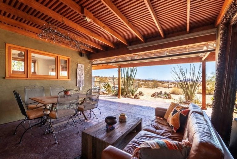 contemporary joshua tree home with hottub airbnb
