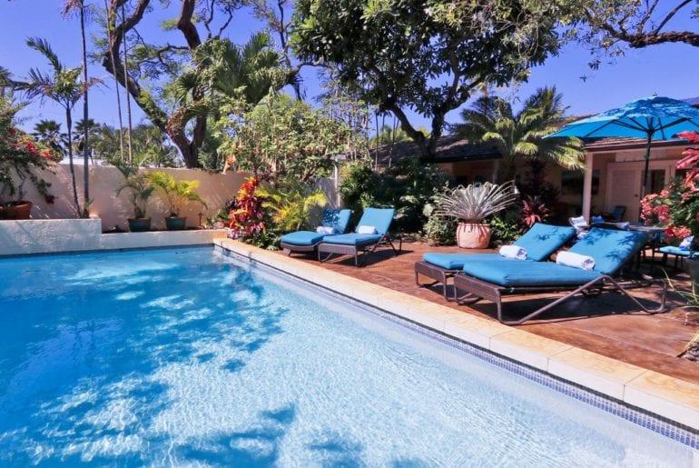 Poolside in Maui