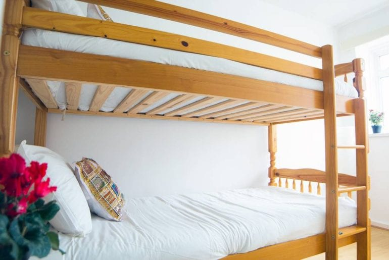 bunk beds for Children in a London Airbnb