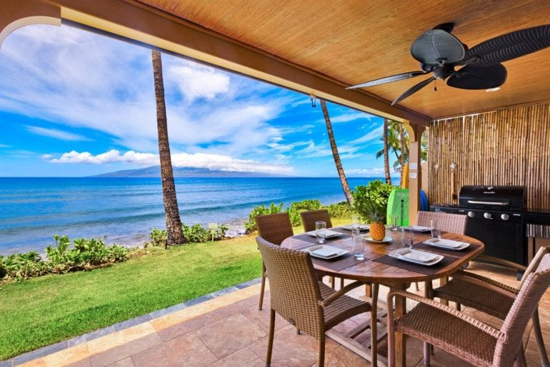 an oceanfront airbnb townhouse in lahaina