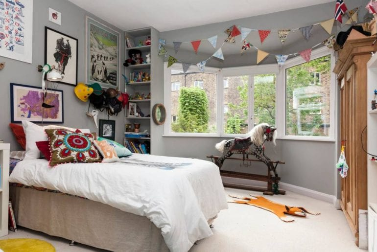 a children's bedroom in an East London home on Airbnb