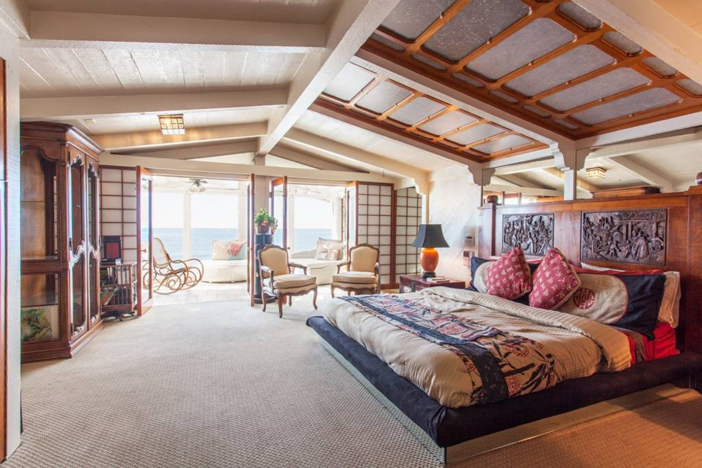 an LA beach house with wooden paneling