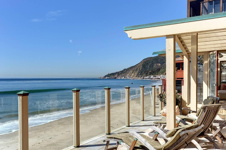 beachfront decking in an LA Airbnb