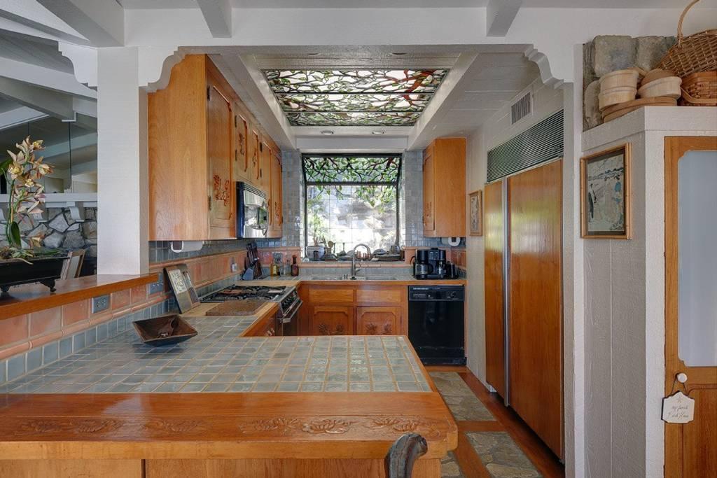 kitchen in an 80s mansion in LA