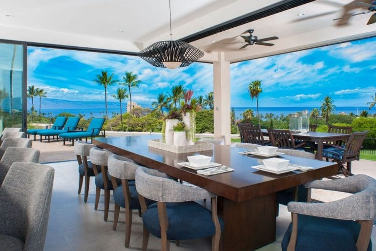 incredible views from the dining room
