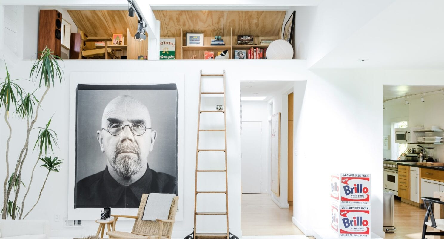 Pacific Palisades airbnb with art and an indoor plant