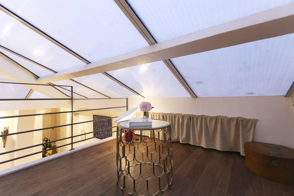 luxury loft with views of eiffel tower