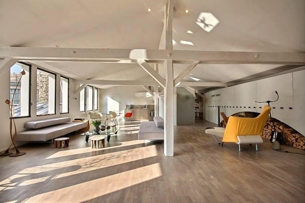 avant garde airbnb loft space in marais paris