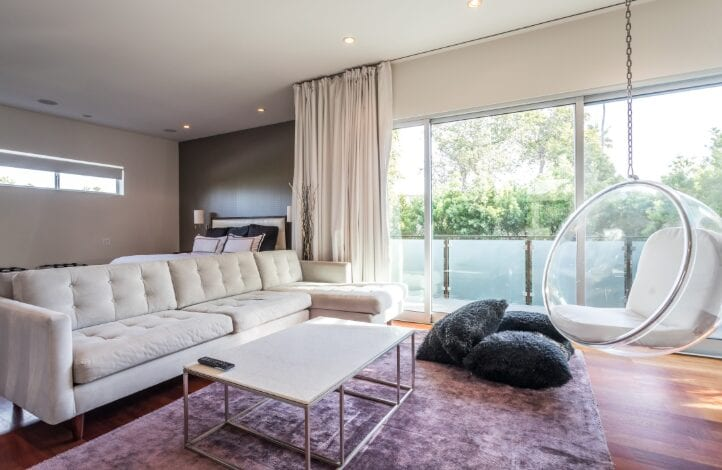 mid century modern living room in Los Angeles
